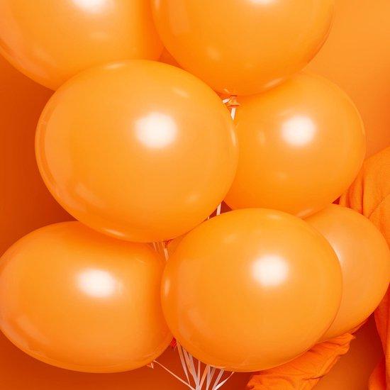 50 stuks Oranje ballonnen pakket - Helium Ballonnenset, EK voetbal, Oranje-versiering, Feestversiering, Straatfeest, Koningsdag, Verjaardag. Incl. ballonsluiters met wit lint