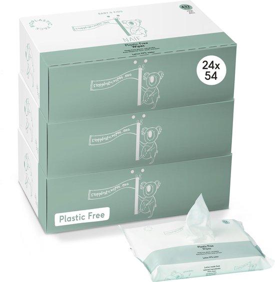 Naïf natuurlijke plastic vrije Billendoekjes - voordeelverpakking 24 stuks - 24 x 54 doekjes