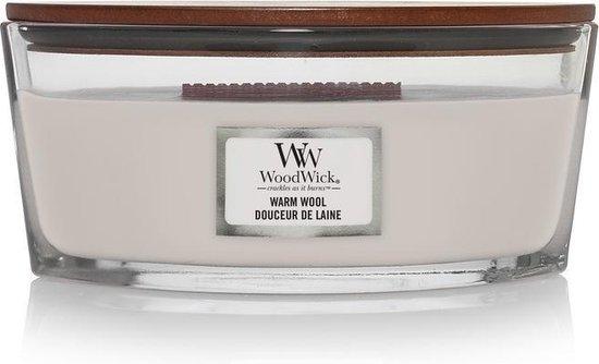 Woodwick Heartwick Flame Ellipse Geurkaars – Warm Wool