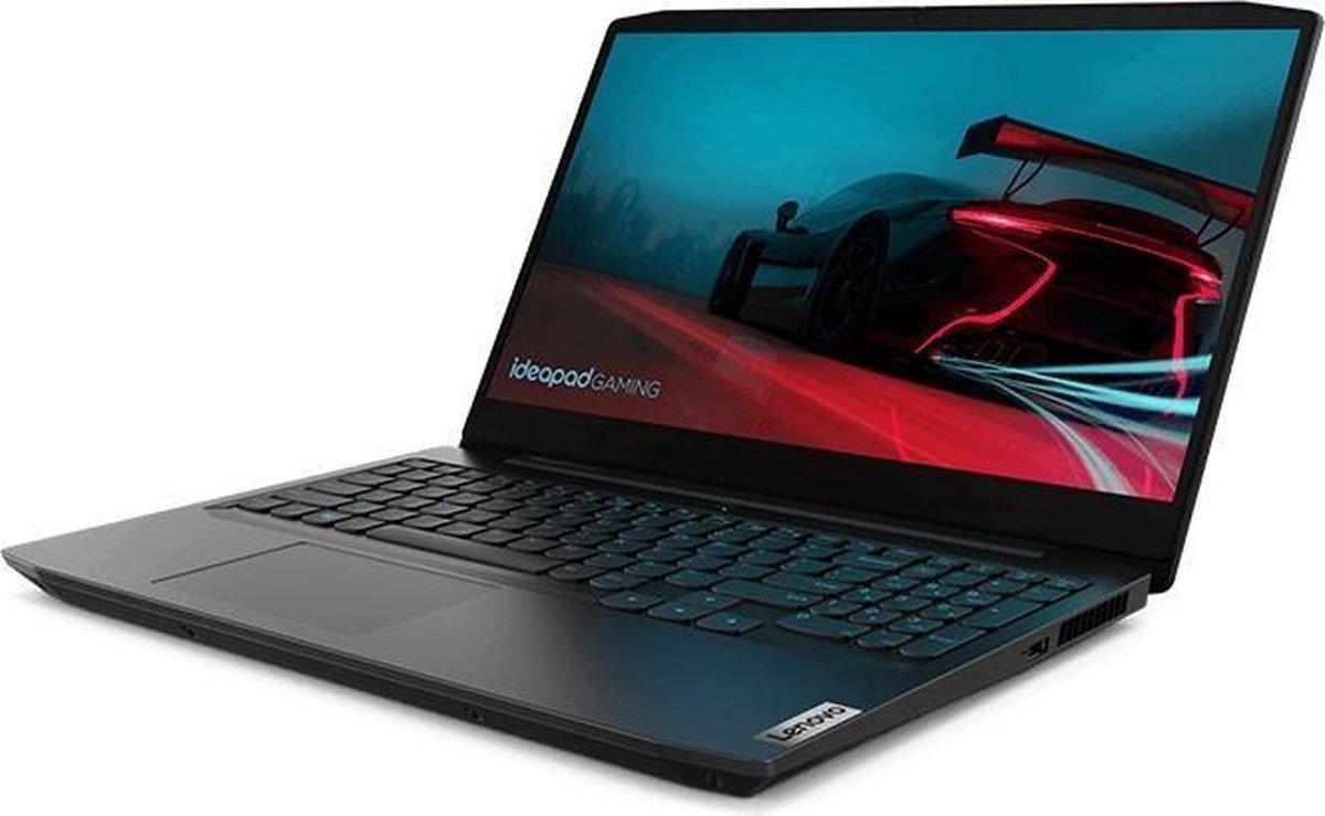 "Lenovo IdeaPad Gaming 3 Notebook 39,6 cm (15.6"") 1920 x 1080 Pixels 120HZ - AMD Ryzen 5 4600H -16 GB DDR4 -512 GB SSD NVIDIA® GeForce® GTX 1650 Wi-Fi 5 (802.11ac) Windows 10 Home Zwart- Verlicht Blauw Toetsenbord"