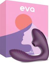Eva® Queen Pro - Luchtdruk Vibrator - Purple - Discreet & Stille Vibrators voor Vrouwen - G Spot & Clitoris Stimulator - Ook voor koppels - Zuiger - Sex Toys