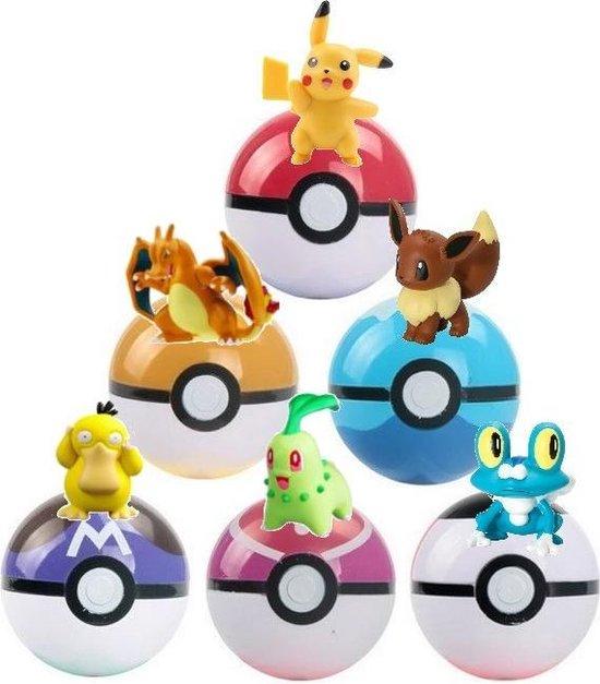 Afbeelding van Pokemon Plus Set - 6 Pokemon ballen met Pokemon speelgoed speelgoed