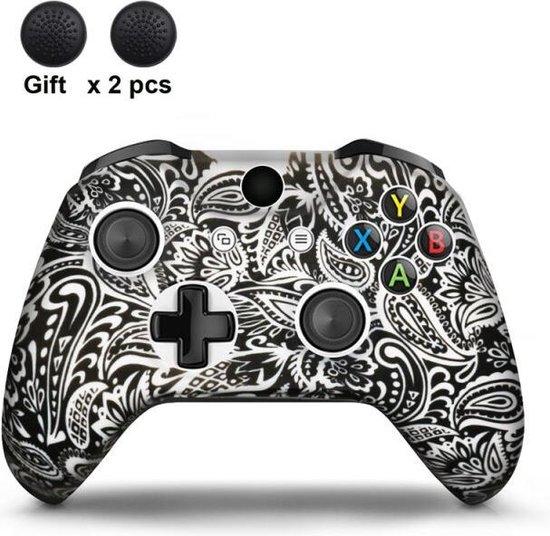 Gadgetpoint | Xbox One | Siliconen Controller Hoesjes | Tattoo | Zwart/Wit