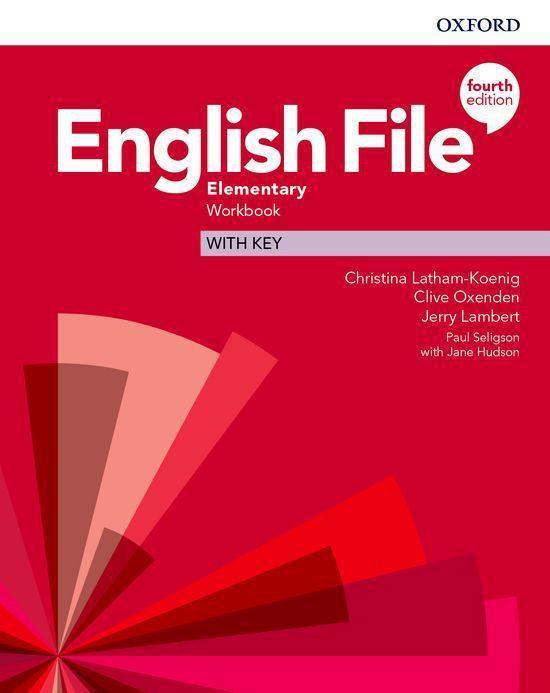 Boek cover English File - Elem (fourth edition) wb with key van Christina Latham-Koenig (Paperback)