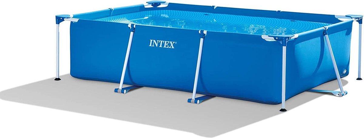 Intex - Rechthoekig buitenzwembad - Blauw frame zwembad buiten