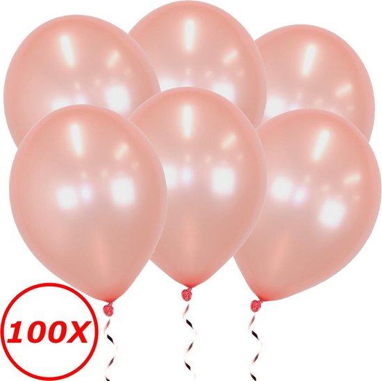 Roségouden Ballonnen Feestversiering Verjaardag 100st Metallic Roségoud Ballon