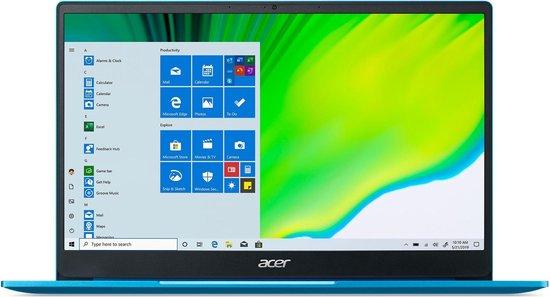 Acer Swift 3 SF314-59-36E0 - 14i FHD/i3-1115G4/8GB/512GB SSD/UHD Graphics/No ODD/Qwerty/Fingerprint Reader/Win10 Home/Blue