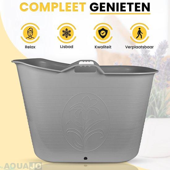 Zitbad Voor Volwassenen Bad Bath Bucket IJsbad Zitbaden Voor In Douche - Mobiele Badkuip - Vrijstaand Bad - Plastic - Icebath - 200L – 92x51x63 cm - Grijs
