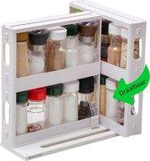 Myours® - Kruidenrek – Kruidenrek staand – Kruidenrek ophangbaar – Keukenrek – Keukenrek hangend – Keukenrekje hangend – Organizer – Organizer keuken - Wit