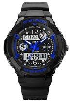 West Watch multifunctioneel kinder sport horloge -  model Storm – Chronograaf – Shockproof - Digitaal/Analoog - Blauw