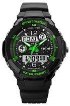 West Watch multifunctioneel kinder sport horloge model Storm – Chronograaf – Shockproof - Digitaal/Analoog - Groen