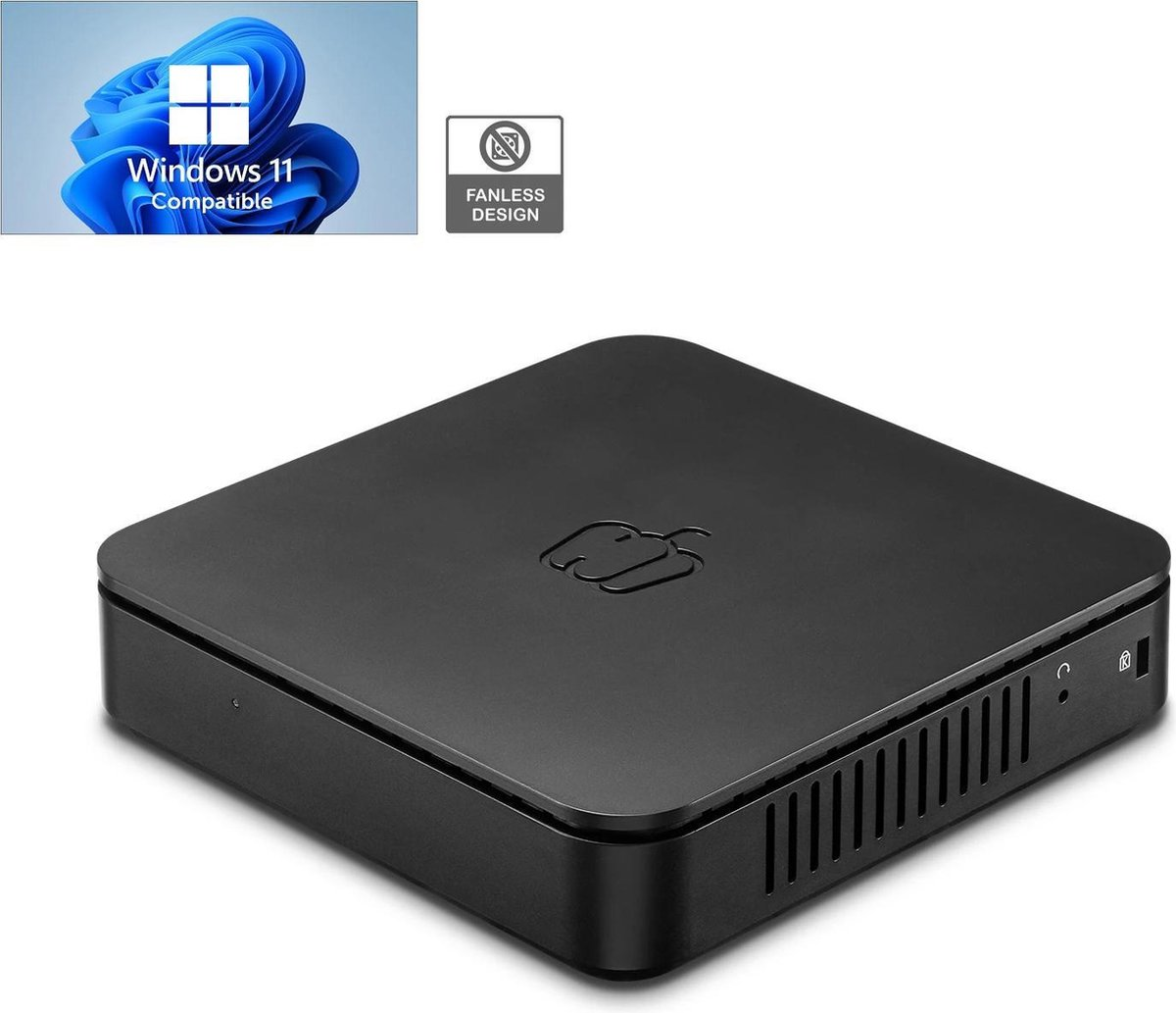 PEPPER JOBS Mini PC GLK-UCX | Celeron N4000 – dual Core| 8 GB LPDDR4 | 64 GB eMMC | Ondersteunt M.2 SATA SSD-upgrade | Windows 10 Pro
