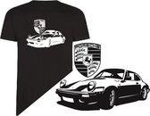 Porsche t-shirt zwart maat xl