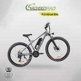 SachsenRad R10 - E Fiets- Allroad E-bike- 28 inch 250W motor 36V lithium batterij, 45km/h (max),  21-versnelling , LED-display- Moonlight Grey