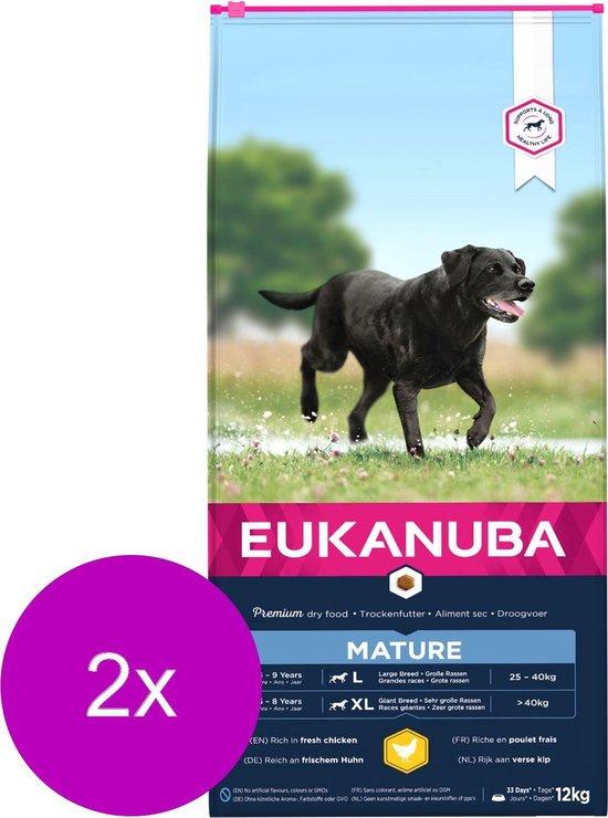 Eukanuba Thriving Mature Large Breed Kip - Hondenvoer - 2 x 12 kg