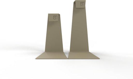 Mono – Kandelaar set – Kaarsenhouder – Metaal – Geel / Grijs