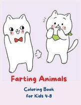 Farting Animals Coloring Book for Kids 4-8