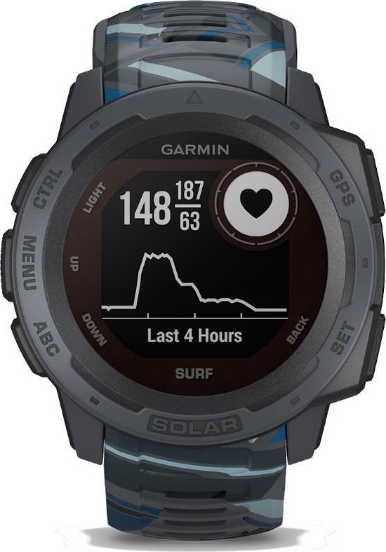 Garmin Instinct Solar Surf - Robuuste multisport smartwatch - Pipeline