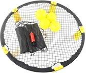 Roundball Set - met strakke en mooie tas en verstelbaar net - Buitenspel voor kinderen en volwassenen - met ballenpompje