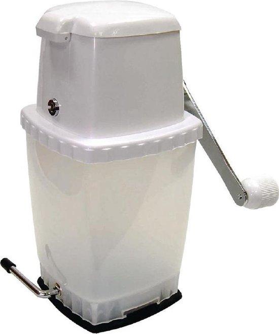 Handmatige ijscrusher met Vacuüm voet voor stevigheid - Wit - Ice crusher/ ijsblokjesvergruizer