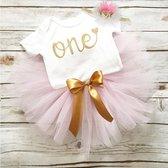 3 in 1 set Cakesmash outfit - First Birthday outfit - Eerste verjaardag - Een jaar tutu dress - Babykleding - Leuke cadeau 1 jaar - Photoshoot jurk set - one korte mouw