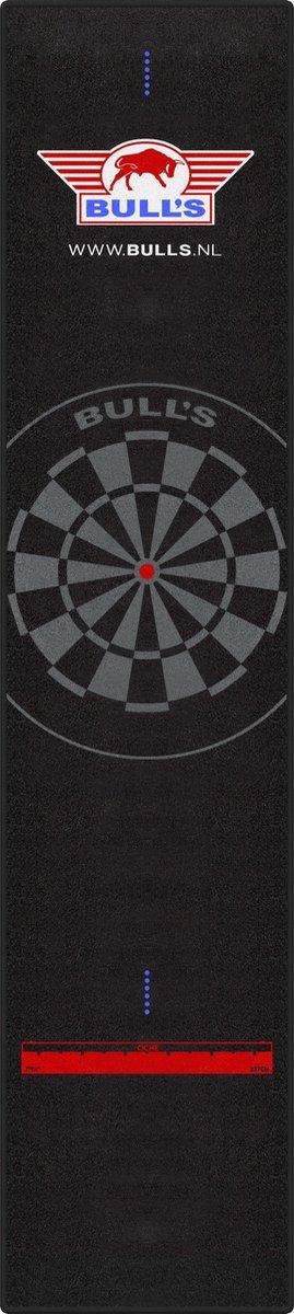 Bull's Carpet Dartmat 300x65 cm zwart met zwarte stik