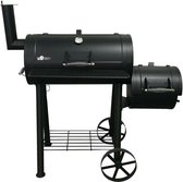 Fire Beam Houtskool Barbecue - Grilloppervlak (LxB) 35 x 66 cm - Smoker - Zwart