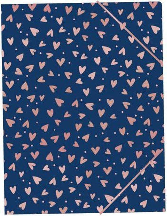 Elastomap SushiSunday A4 PP blauw hartjes c