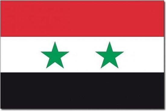 Vlag Syrie 90 x 150 cm feestartikelen - Syrie landen thema supporter/fan decoratie artikelen