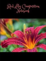 Red Lily Composition Book