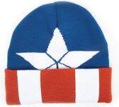 Captain America - Beanie met Gebreide Patroon - Multicolor