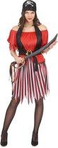LUCIDA - Piratenkostuum met gestreepte rok voor dames - Volwassenen kostuums