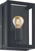 EGLO Vintage Alamonte 1 Wandlamp - 1 Lichts - Zwart