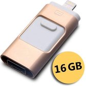 USB Flashdrive - Externe opslag Android/IOS - 16GB Goud - TechQounts