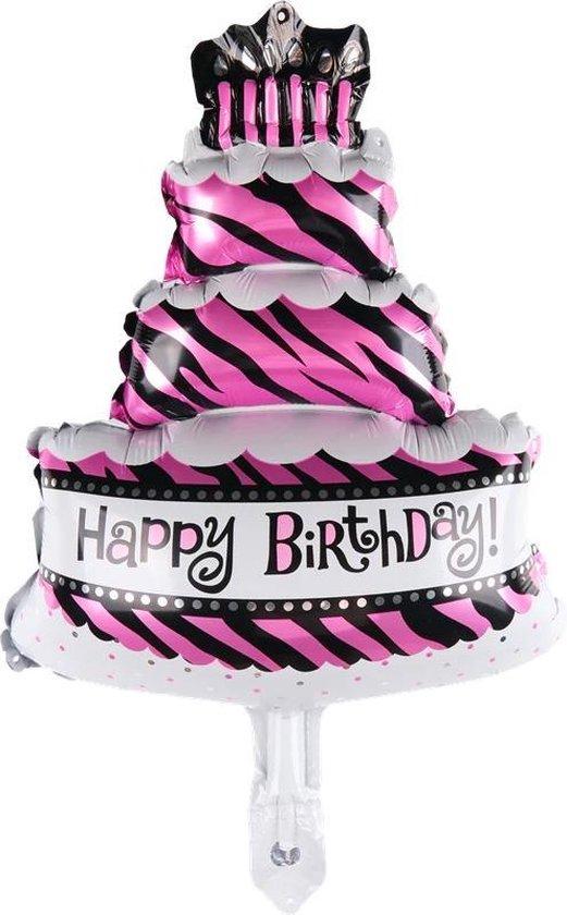 Folie helium ballon Taart Happy Birthday 47cm