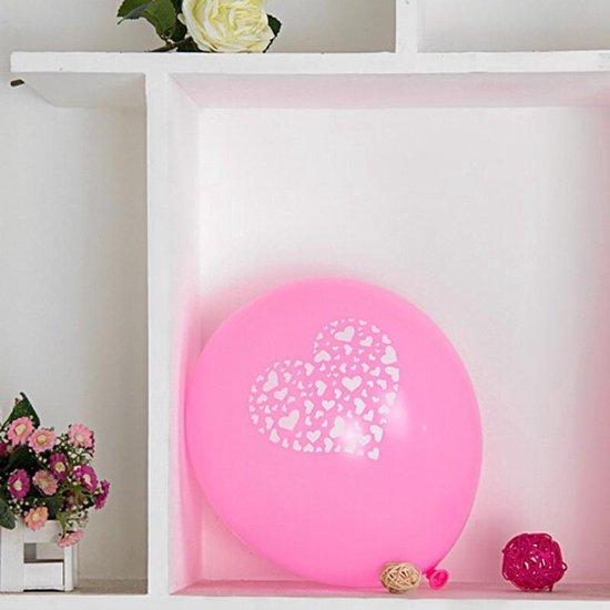 Ballonnen hart roze-wit