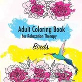 Birds. Adult Coloring Book for Relaxation Therapy