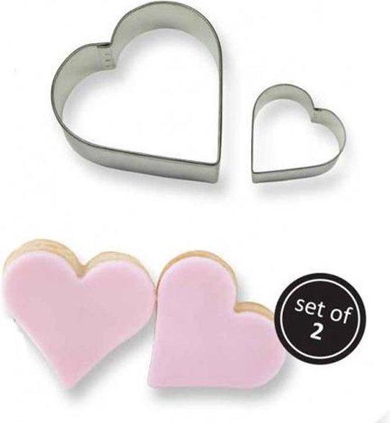 PME koekjesuitsteker hart set/2
