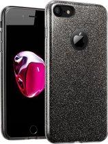 Glitter Hoesje voor Apple iPhone 6s Plus / 6 Plus Siliconen TPU Case Zwart - Bling Cover van iCall