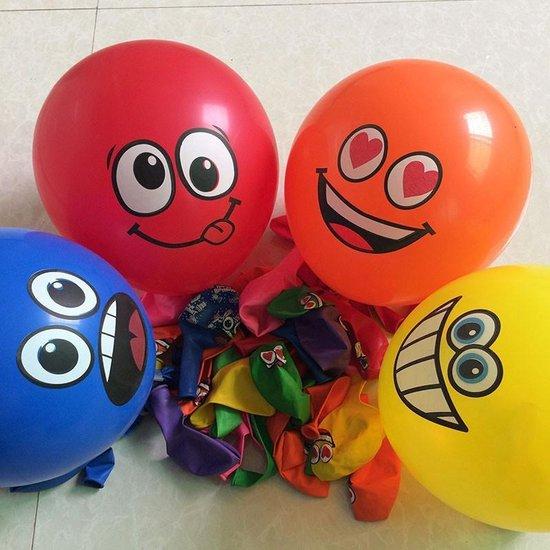 Ballonnen 8 smiley multi color