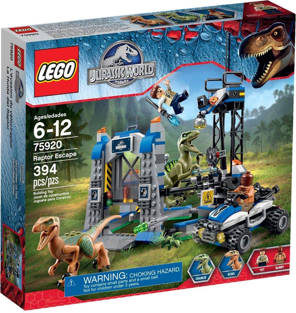 LEGO Jurassic World Raptorontsnapping - 75920