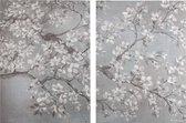 Art for the Home - Canvas Schilderij set - Orchidee - 2x 60x80 cm