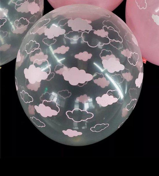 Fabs World ballonnen wolkjes roze