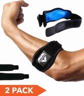 PlayActive Sports Elleboogbrace - 2 pack - met Compressie Pad
