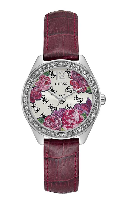 GUESS Watches W0905L2 - Horloge - Dames - Staal - Paars -  ⌀ 36 mm - GUESS