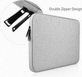 Waterdichte laptoptas - Laptop sleeve - 15.6 inch - Extra bescherming (Grijs)