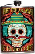 Tequila Heupfles - RVS - 230 ml