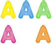 Opblaas letter A  Roze