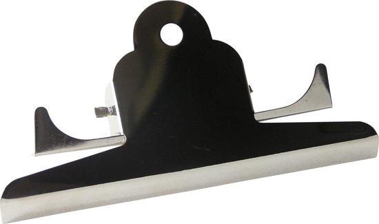 LPC Papierklem Klembordklem - zilver - 145 mm -10 stuks