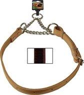 Kettingsliphalsband verstelbaar donkerbruin
